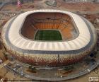 Vista aérea da FNB Stadium ou Soccer City Stadium (88.460), Johannesburg