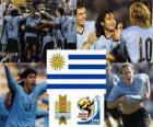 Seleção do Uruguai, no Grupo A, a África do Sul 2010