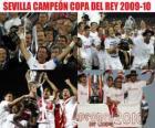 Campeão Sevilla da Copa del Rey 2009-2010