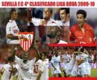 Sevilla FC quatro classificados da Liga BBVA 2009-2010
