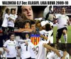 3 Valencia CF. Avaliado Liga 2009-2010