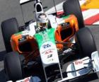 Force India de Adrian Sutil - - Monte Carlo de 2010