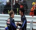Mark Webber e Sebastian Bull - Vettel Red - Monte Carlo de 2010 (primeiro e segundo classificados)