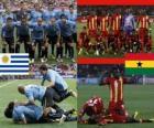 Uruguai - Gana, quartas, África do Sul 2010