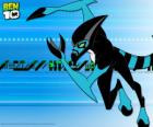O alien XLR8 é a primeira transformação de Ben 10 com o Omnitrix