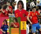 Carles Puyol (O chefe da Espanha), a defesa da equipe espanhola