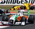 Force India de Adrian Sutil - - Silverstone 2010