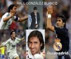O atacante Raul Gonzalez Blanco Real Madrid CF, entre 1994 e 2010