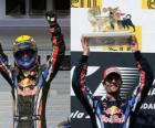 Mark Webber comemorou sua vitória em Hungaroring, Grande Prêmio da Hungria (2010)