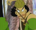 Usopp , atirador da tripulação de piratas e especialista em armas
