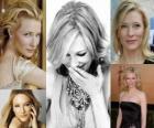 Cate Blanchett é uma atriz e diretora teatral australiana. Ganhou vários prêmios como atriz, mais notavelmente dois SAGs, dois Globos de Ouro, dois BAFTAs, um Óscar