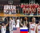 Estados Unidos - a Rússia, quarto até final de 2010 FIBA World Championship na Turquia