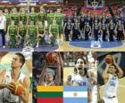 Lituânia - Argentina, o bairro até final de 2010 FIBA World Championship na Turquia