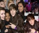 Justin Bieber com seus fãs
