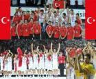 Turquia 2 º lugar do Campeonato Mundial FIBA 2010 na Turquia