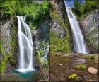 a cachoeira do Saut deth Pish, entre 25 e 30 metros de altura do Vale de Aran, Catalunha, Espanha.
