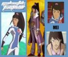 Mei é a jogadora número 7 da equipe Snow Kids
