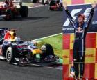 Sebastian Vettel celebra sua vitória no Grande Prémio do Japão (2010)