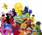principais personagens da Rua Sésamo ou Vila Sésamo