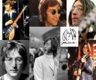 John Lennon (1940 - 1980) músico e compositor que se tornou mundialmente famoso como um dos membros fundadores dos The Beatles.