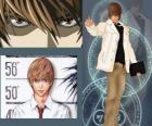 Light Yagami também conhecido como Kira, o protagonista do anime Death Note