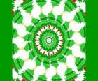 Mandala com decorações de Natal