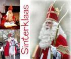 Sinterklaas. São Nicolau traz presentes para as crianças nos Países Baixos, Bélgica e outros países da Europa Central