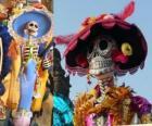 O crânio Catrina, uma das mais populares do Dia dos Mortos no México