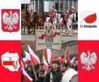 Dia Nacional da Polônia, 11 de Novembro. Comemoração da Independência da Polônia em 1918