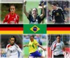 Nomeada para Melhor Jogador do Ano da FIFA 2010 (Fatmire Bajramaj, Marta Vieira da Silva, Birgit Prinz)