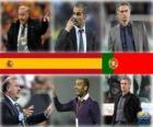 Nomeados para o treinador da Copa do Mundo de Futebol dos Homens do Ano 2010 (Vicente del Bosque Pep Guardiola, José Mourinho)