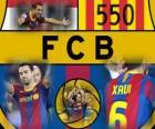 Xavi Hernandez 550 jogos pelo Barcelona
