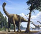 Camarassauro na paisagem