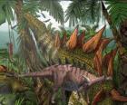 Dacentrurus, medindo aproximadamente 10 metros de comprimento e quase 3,5 de altura.