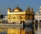 Harmandir Sahib, Templo Dourado ou Templo de Deus, templo sikh em Amritsar, na Índia