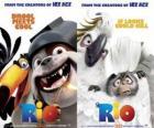 cartazes de cinema do Rio, com alguns personagens (2)