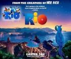 Rio poster do filme, com belas vistas sobre a cidade do Rio de Janeiro