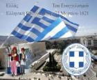 Dia da Independência da Grécia, de 25 de marco de 1821. Guerra da Independência ou Revolução grega
