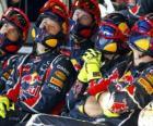 Red Bull mecânica assistir a corrida