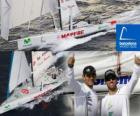 A Mapfre em segundo lugar no Mundial de Barcelona Race 2010-11