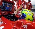 Felipe Massa, no desenvolvimento de sua Ferrari