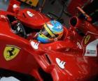 Fernando Alonso, a preparação para a corrida para a Ferrari