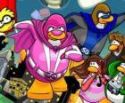 Os Pinguins super-heróis do Club Penguin