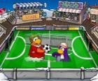 O jogo de futebol do Club Penguin