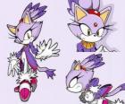Blaze the Cat, uma princesa e uma das amigas de Sonic