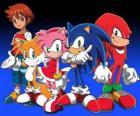 Sonic e outros personagens de jogos de vídeo Sonic