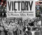 Comemorando a vitória dos Aliados sobre o nazismo eo fim da Segunda Guerra Mundial. Dia da Vitória, 08 de maio de 1945