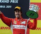 Fernando Alonso - Ferrari - Istambul, Turquia, Grand Prix (2011) (3 º lugar)
