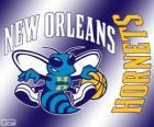 Logo do New Orleans Hornets, equipe da NBA. Divisão Sudoeste,ConferênciaOeste