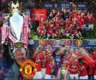 Manchester United, campeão da liga de futebol Inglês. Premier League 2010-2011